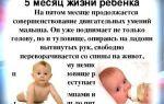 5 й месяц развития ребенка: изменение физических показателей и обретение новых навыков